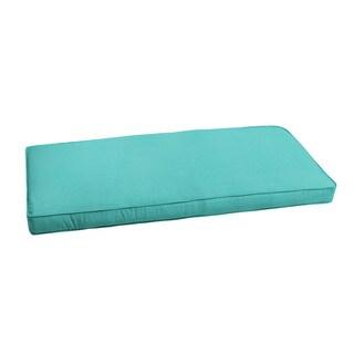 "Sunbrella Aruba Blue Indoor/ Outdoor Bench Cushion 55"" to 60"" by Humble + Haute"