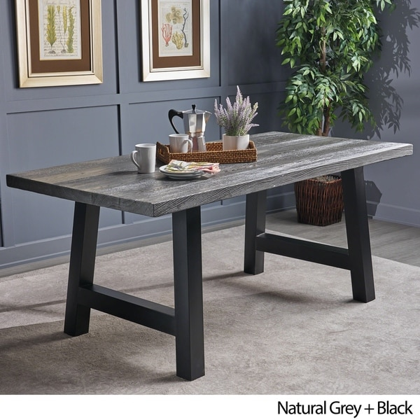 Ozias Rectangle Concrete Picnic Dining Table by Christopher Knight Home