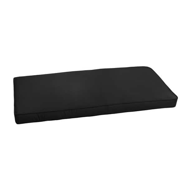Sunbrella Canvas Black Indoor Outdoor Bench Cushion 55 To 60 By Humble Haute On Sale Overstock 20105084