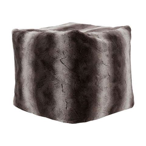 Madison Park Marselle 18-inch Tip Dyed Long Faux Fur Pouf with Zippered Closure 3 Color Option