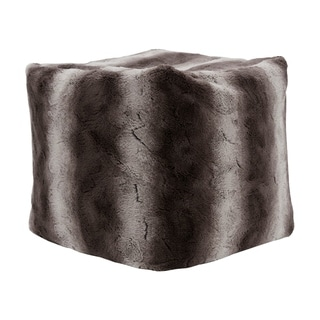 Madison Park Marselle 18-inch Tip Dyed Pouf with Zippered Closure 2-Color Option