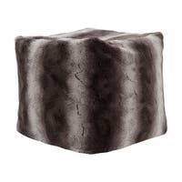 Madison Park Marselle 18-inch Tip Dyed Long Faux Fur Pouf with Zippered Closure 3-Color Option