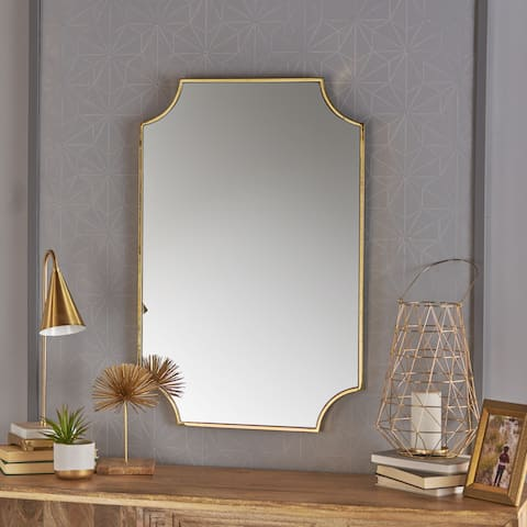Verne Glam Wall Mirror by Christopher Knight Home - Gold - N/A