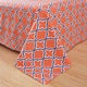 Superior Wrinkle Resistant Brushed Microfiber Printed Trellis Bed Sheet Set