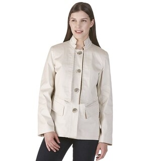 Women's Valencia Beige Cotton/ Spandex Rain Coat