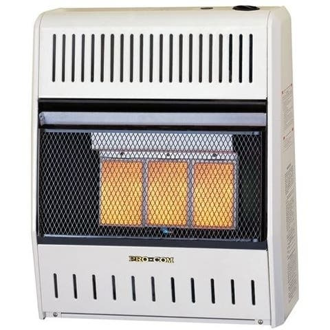 Procom MN180HPA Ventless Natural Gas Wall Heater - 3 Plaque, 18,000 BTU, Manual Control