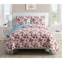 VCNY Home Sea Life II Pinsonic 3-piece Reversible Quilt Set