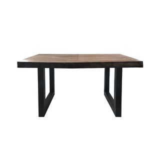 Jaxson Faux Live Edge Rectangle Light-Weight Concrete Dining Table by Christopher Knight Home - Brown