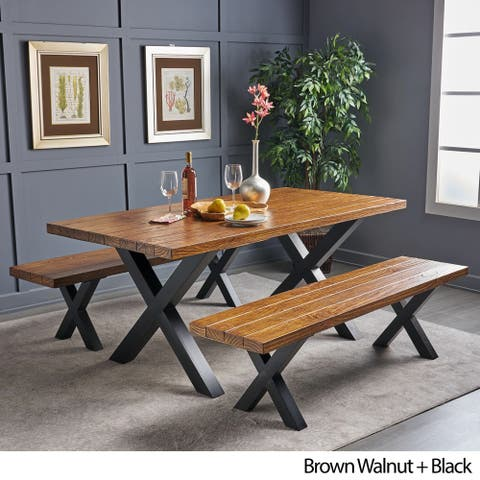 Mitzy 3-piece Rectangle Light-Weight Concrete Picnic Dining Set by Christopher Knight Home