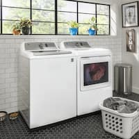 GE 27 Inch Gas Dryer and top load washer Set