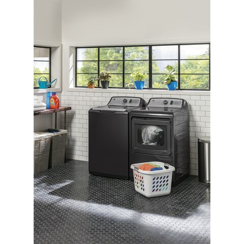 GE 27 Inch Electric Dryer and top load washer Set