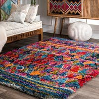 nuLOOM Multi Soft and Plush Whimsical Kite Motifs Shag Rug