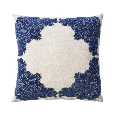 Furniture of America Jova Contemporary Blue Throw Pillows Set of 2