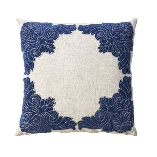 Furniture of America Jova Contemporary Blue Throw Pillows Set of 2