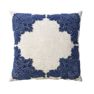 Furniture of America Olivia Floral 20-inch Indigo Blue Throw Pillows (Set of 2)