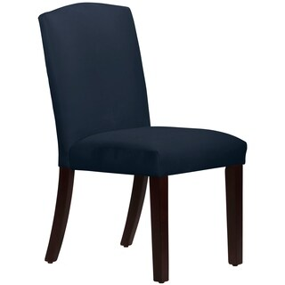 Skyline Furniture Nail Button Arched Dining Chair Set in Velvet