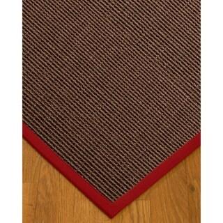 NaturalAreaRugs Alma Custom Sisal Rugs - 4' by 6' Red Border