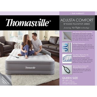 Thomasville Adjusta Comfort Queen Inflatable Air Mattress