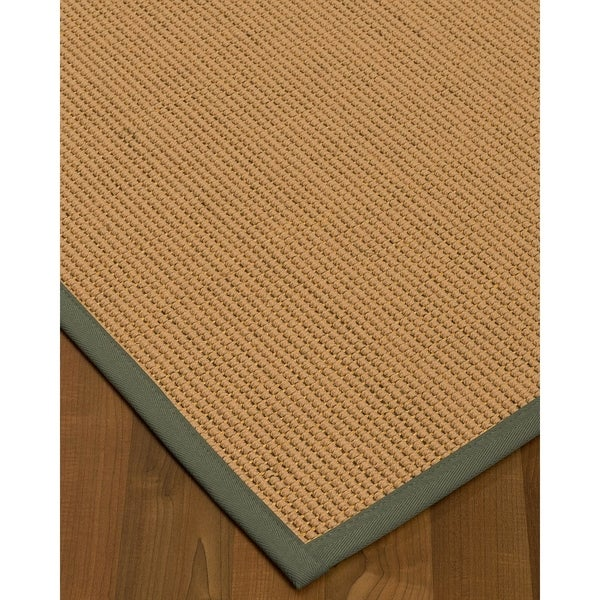 NaturalAreaRugs Sonoma Wool/Sisal Area Rug (4' by 6') Stone Border - 4' x 6'