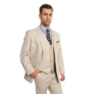 Men's Suit Set 3 Piece Set Slim Fit Notch Lapel Men's Casual Suit Set