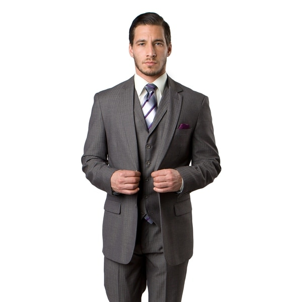 Men's Suit 3 Pieces Modern Fit Notch Lapel Two Button Suit