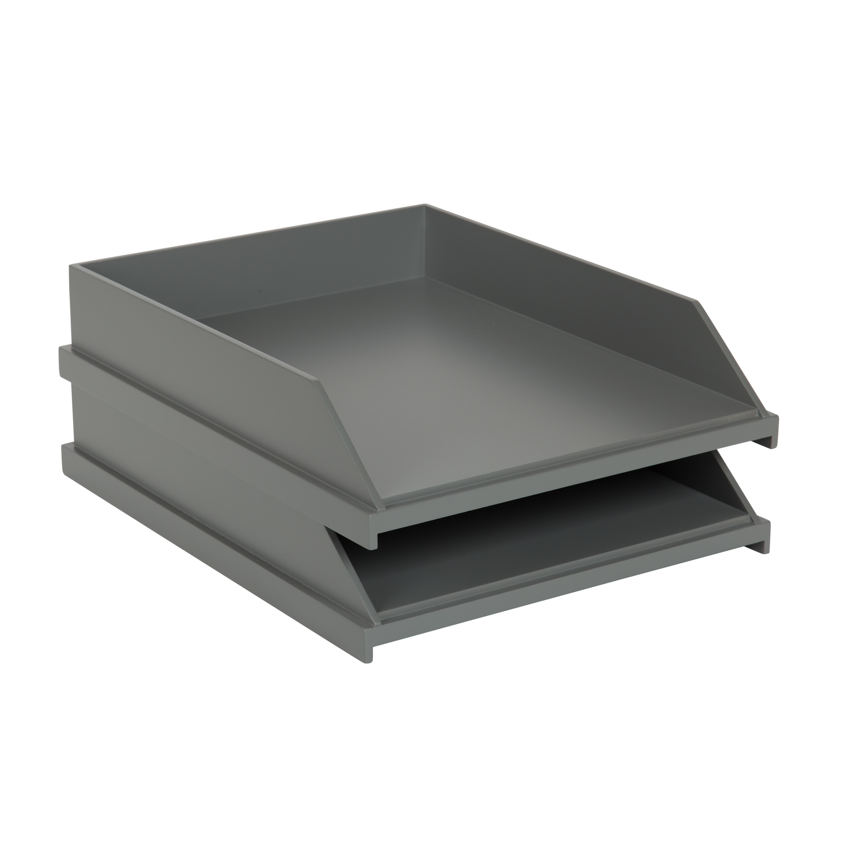 The Gray Barn Fri Tex Letter And Desktop Stackable Trays (Set Of 2)