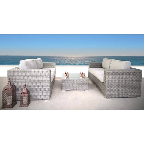 5 Piece Loveseat Sofa Set with Cushions