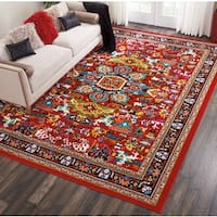 Nourison Oakdale Traditional Red Area Rug - 9'2 x 12'