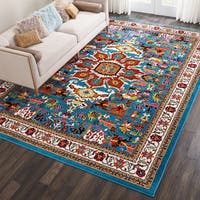 Nourison Oakdale Traditional Blue Area Rug - 9'2 x 12'