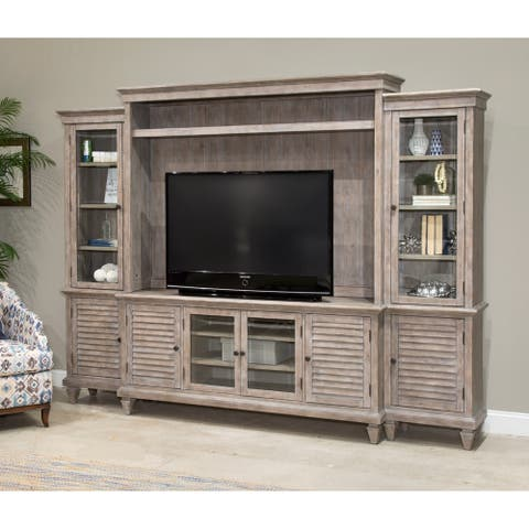 Lancaster Rustic Dovetail Grey Entertainment Wall