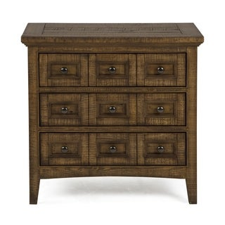 Bay Creek Relaxed Traditional Toasted Nutmeg 3 Drawer Nightstand