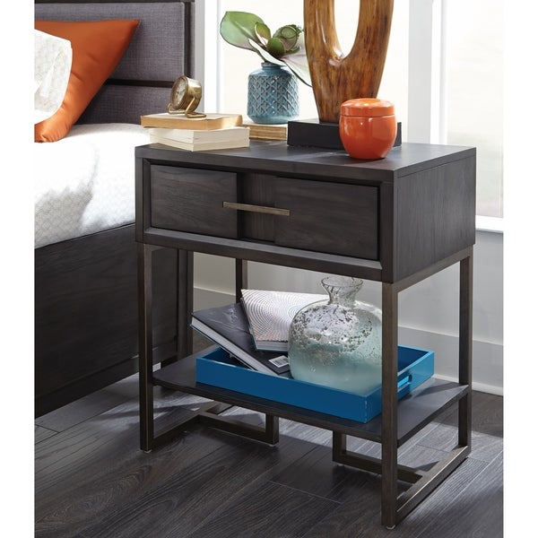 Proximity Heights Contemporary 1 Drawer Open Nightstand