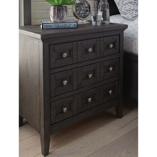 Westley Falls Relaxed Traditional Graphite 3 Drawer Nightstand