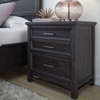 Grafton Avenue Transitional Drawer Nightstand in Midnight Mink