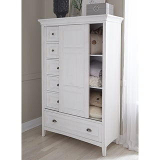 Heron Cove Relaxed Traditional Soft White Sliding Door Chest