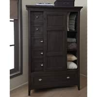 Westley Falls Relaxed Traditional Graphite Sliding Door Chest