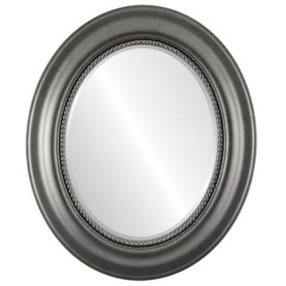 Heritage Framed Oval Mirror in Black Silver