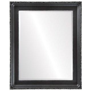 Kensington Framed Rectangle Mirror in Black Silver
