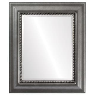 Heritage Framed Rectangle Mirror in Black Silver