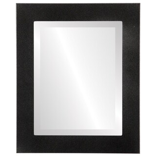 Cafe Framed Rectangle Mirror in Black Silver (More options available)