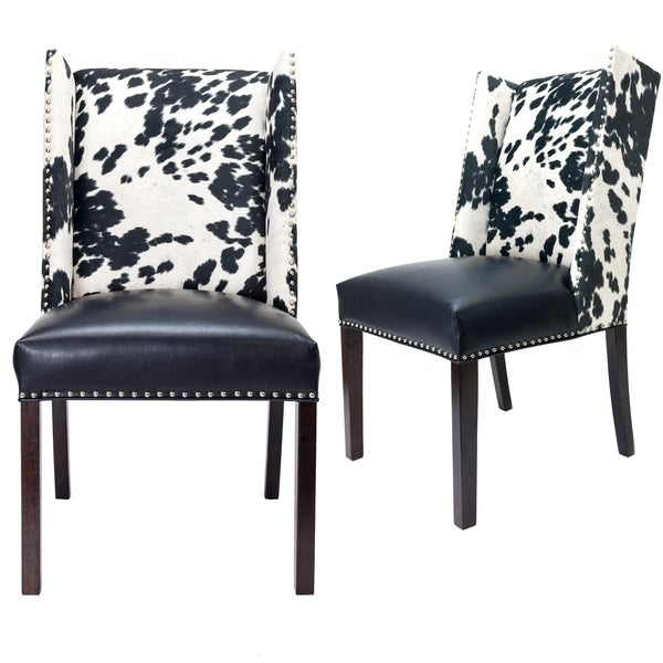 Porter Leather Chair Set Of 2: Shop Sole Designs Rexford Wingback Leather Upholstery W
