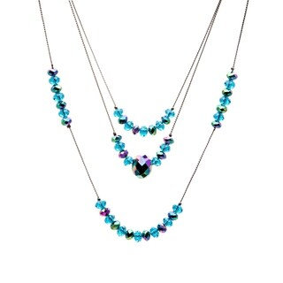 Crystal 3-strand Illusion Necklace (More options available)