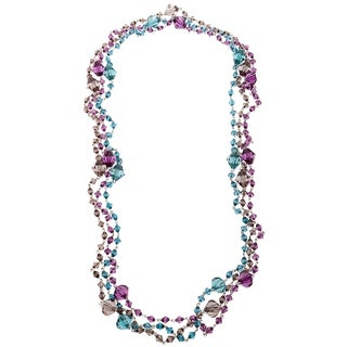 Set of Three Faceted Lucite Bead Fashion Necklaces - multi