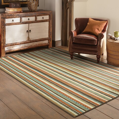 "Copper Grove Mount Hood Striped Area Rug - 6'7"" x 9'6"""
