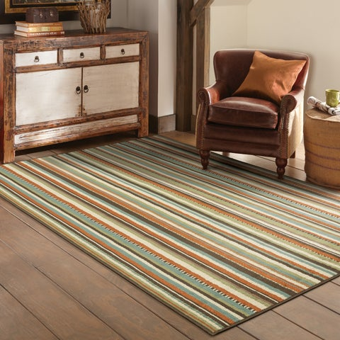 "Copper Grove Mount Hood Striped Area Rug - 8'6"" x 13'"