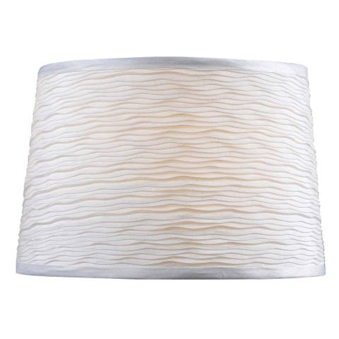 Copper Grove Ruthenica White Tapered 15-inch Drum Shade