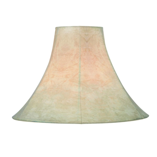 The Gray Barn Cimarron Tan Faux Leather 15-inch Bell Shade