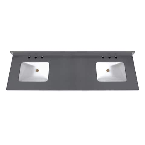 Avanity 73 in. Quartz Vanity Top with Rectangular Undermount Sinks