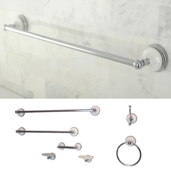 Seven-piece Chrome Bathroom Accessory Kit