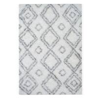Palm Canyon Pico Moroccan Trellis White/ Grey Easy Shag Rug (5'3 x 7'6) - 5'3 x 7'6